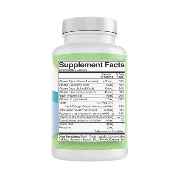 Nutranize Zone 2 Bedtime Supplement Facts Ingredients